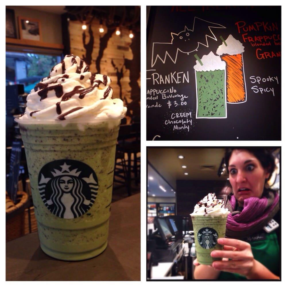 halloween special! franken frappuccino!!! - yelp