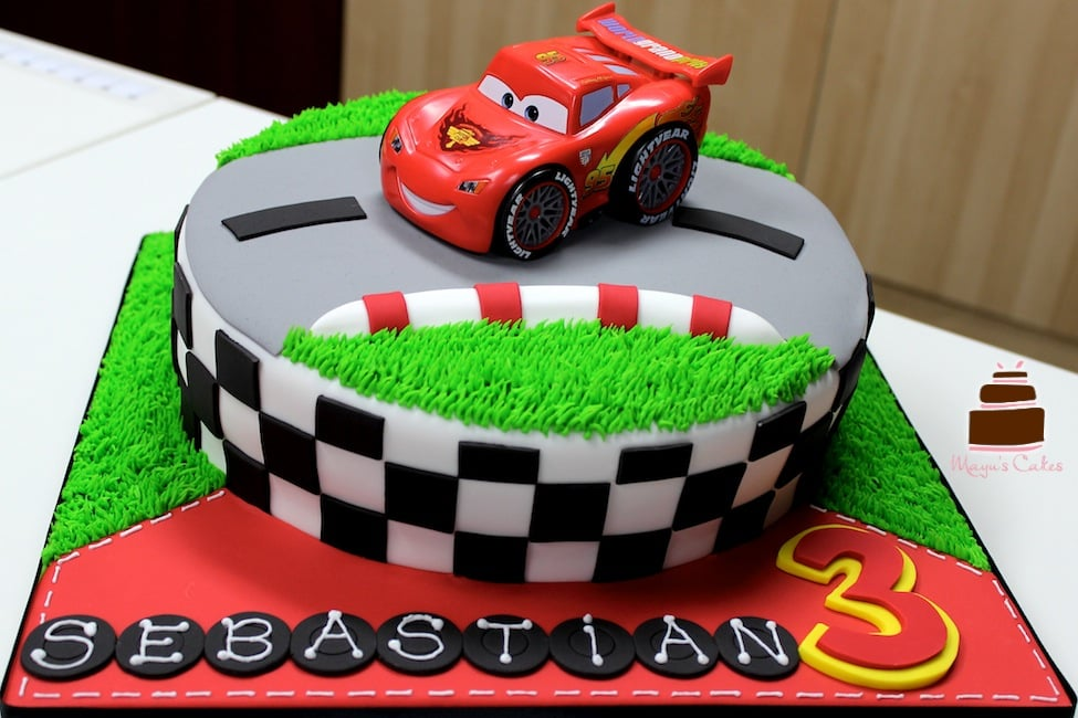 Cake Design Cars Theme : Disney Cars Birthday Cake - Yelp