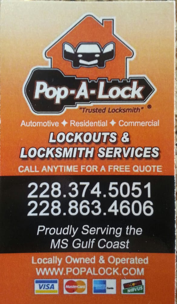Pop-A-Lock of Gulfport: 6430 Kiln DeLisle Rd, Pass Christian, MS