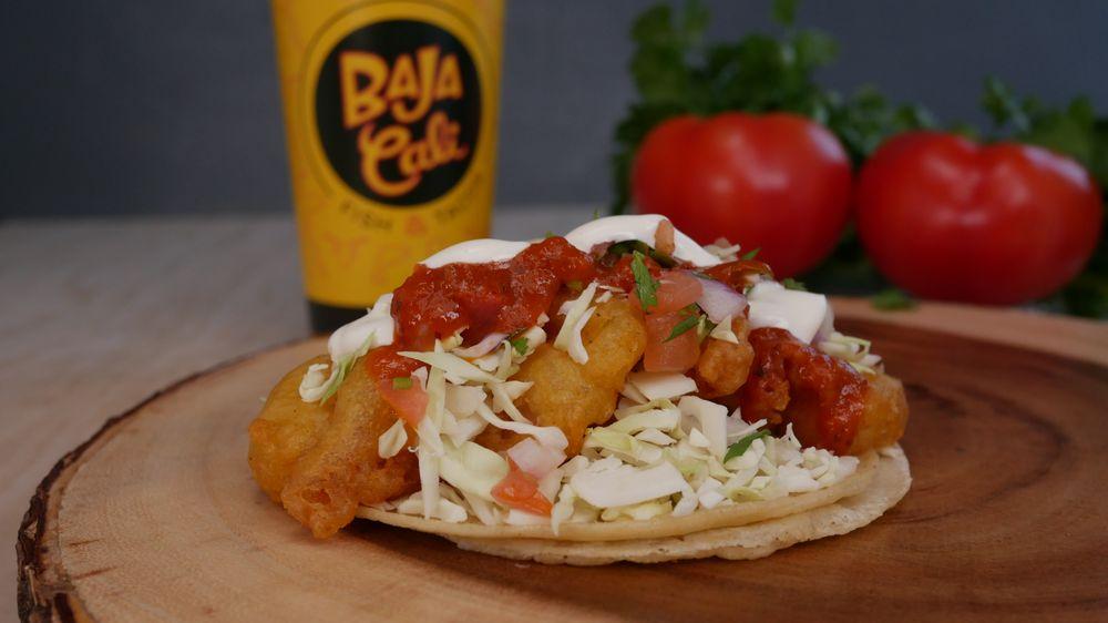 Food from BAJA Cali Fish & Tacos
