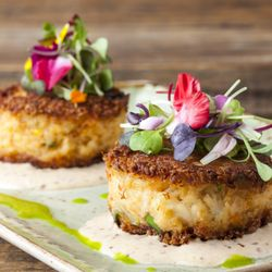 Photo Of Bluewater Grill Carlsbad Ca United States Crab Cake Perfection