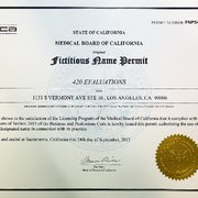 Permit Issued By Photo Of 420 Evaluations Los Angeles Ca United States