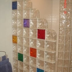 Photo Of Cleveland Glass Block   Cleveland, OH, United States. Glass Block  Shower