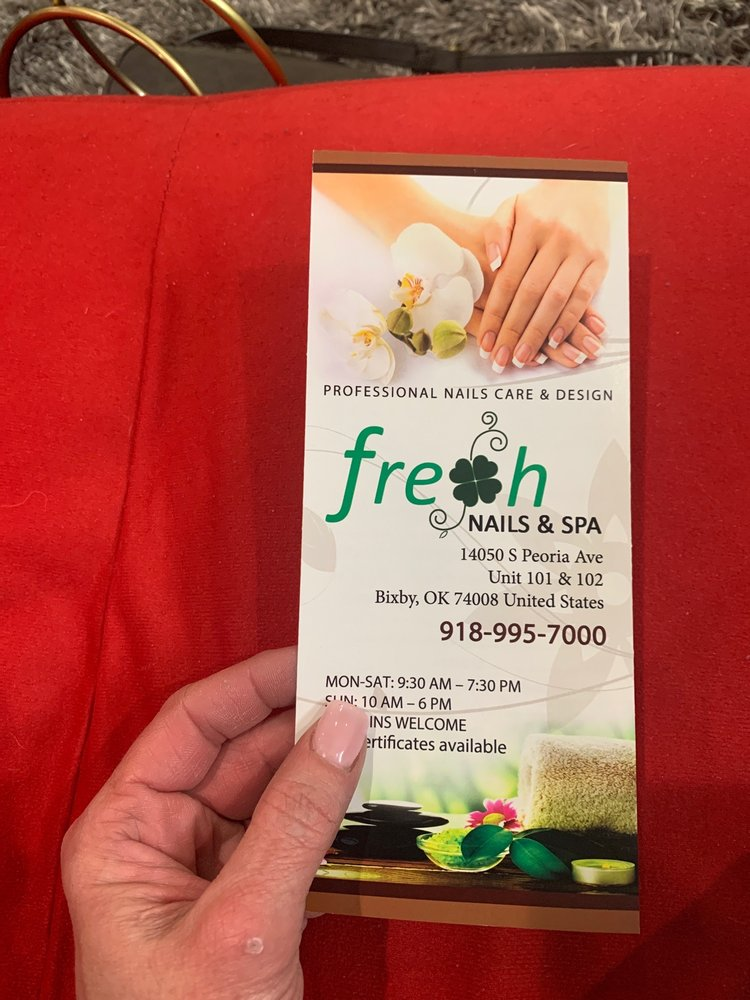 Fresh Nails & Spa: 14050 S Peoria Ave, Bixby, OK