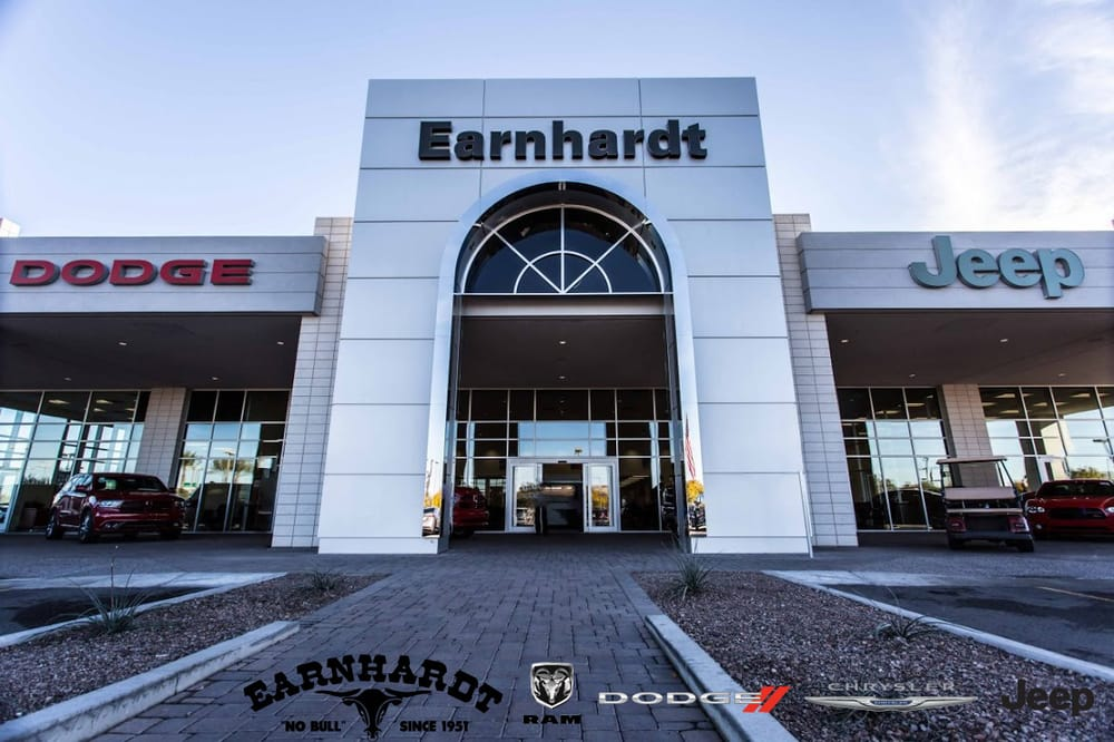 storefront of earnhardt chrysler jeep dodge ram at val. Black Bedroom Furniture Sets. Home Design Ideas