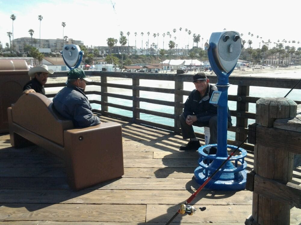 My friend fishes right in the shore break caught a nice for Oceanside pier fishing reports