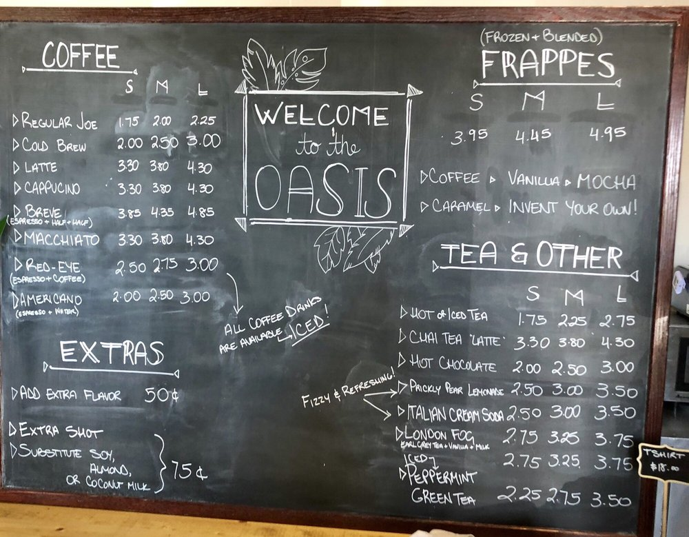 Oasis Coffee: 28 Plaza St, Ajo, AZ