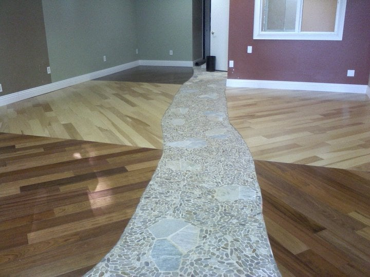 Custom Pre Finished Engineer Hardwood Floor Installation With Rustic