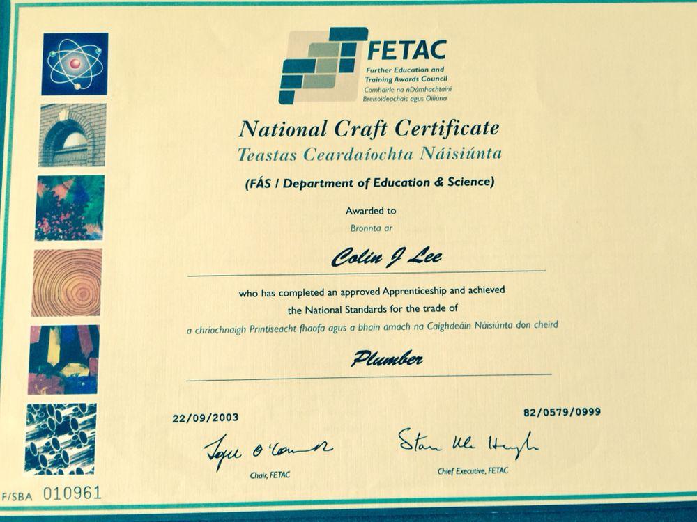 Plumbing certification - Yelp
