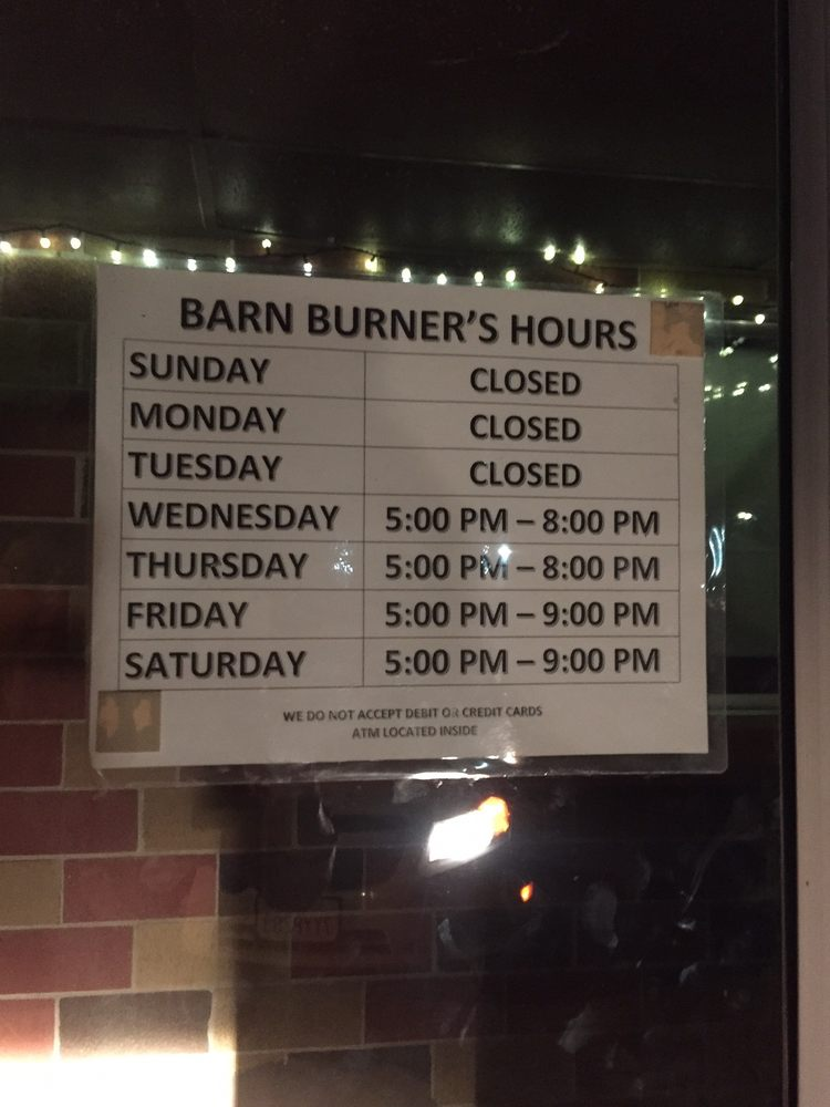 Barnburner Bar and Grill: 307 Lincoln St, Brayton, IA