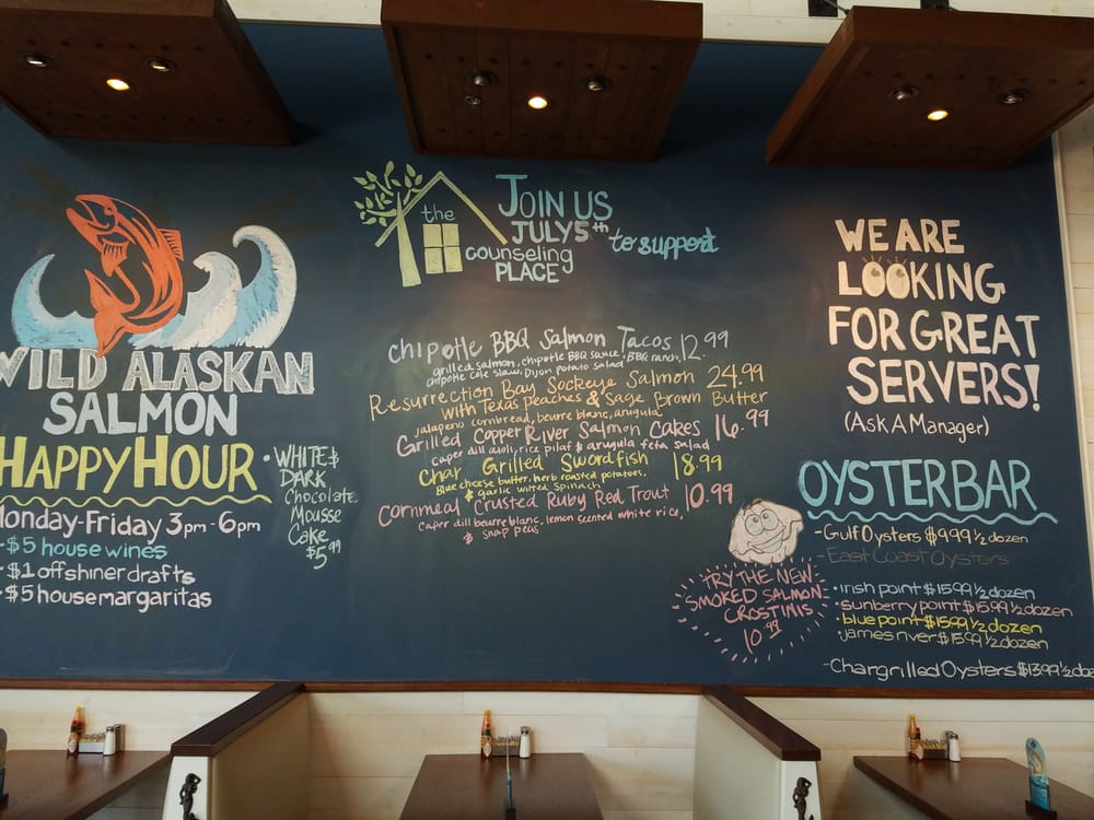 The chalkboard, where you can view the day's chef crafted