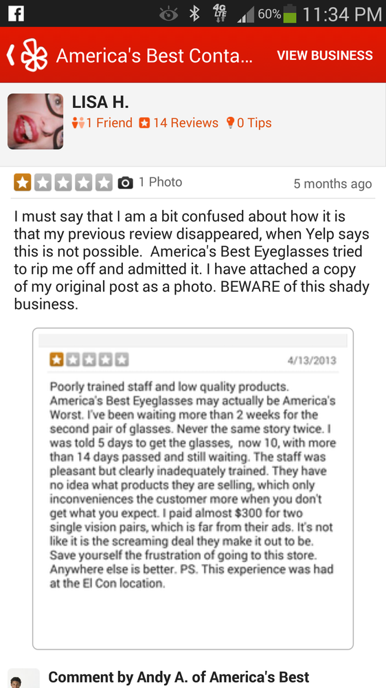 America s Best Contacts & Eyeglasses - 16 Reviews ...