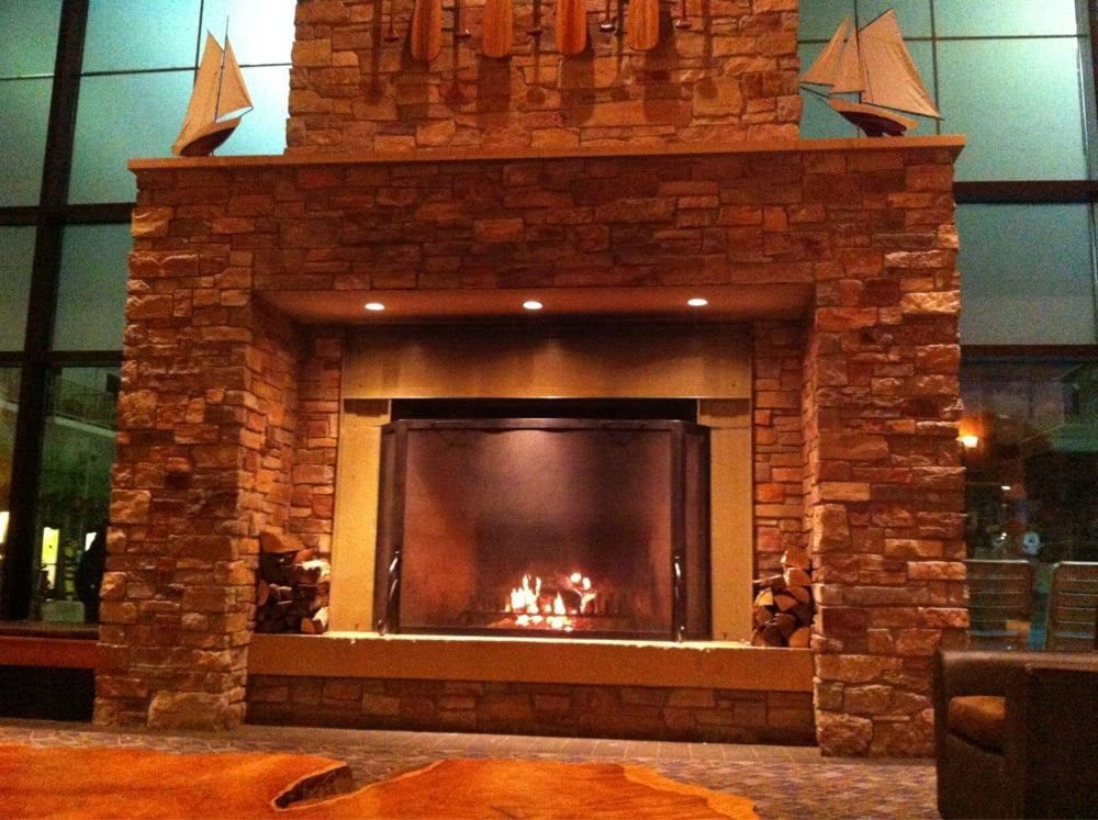 Huge Fireplace In The Lobby Yelp