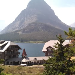 Photo Of Many Glacier Hotel Swiftcur Lake Mt United States View