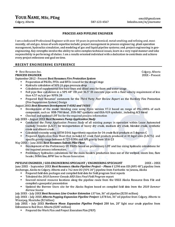 pipeline and process engineer resume exle yelp