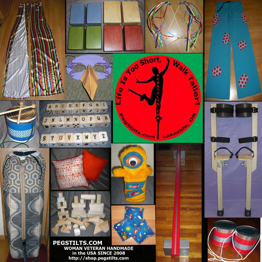 Peg Stilts: 1600 N Lake Rd, Lakeside, OR