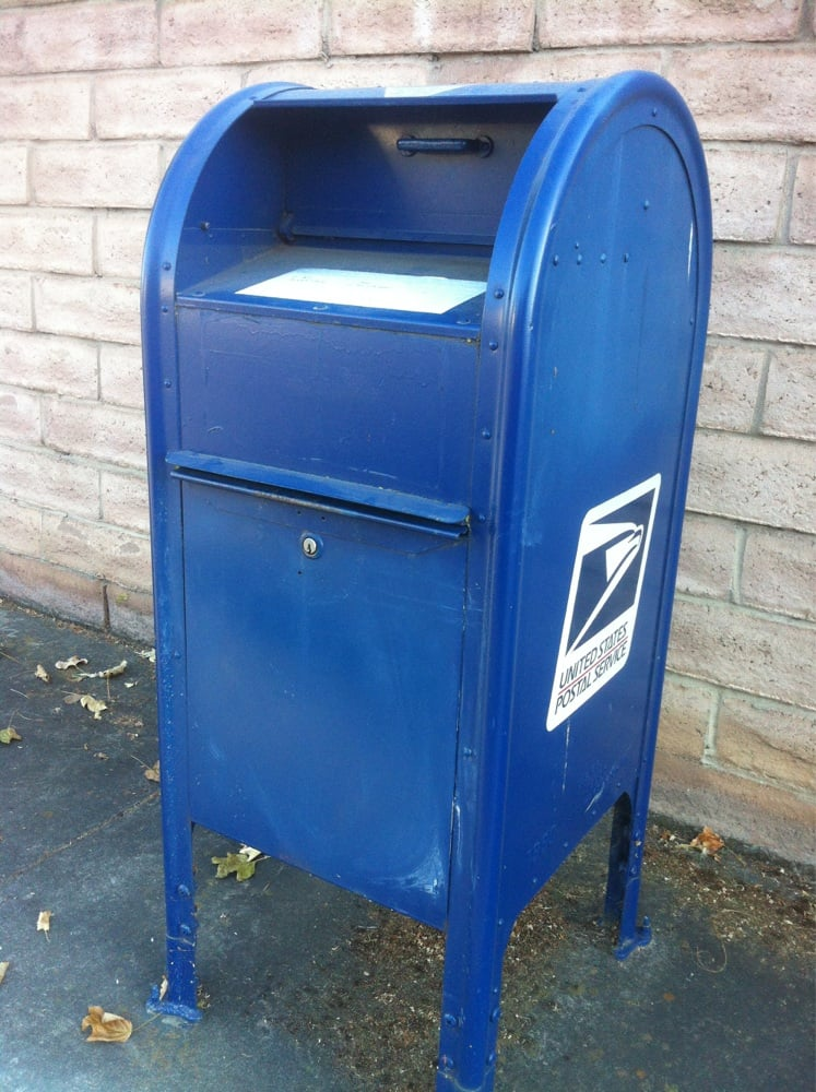 Usps Blue Mailbox Post Offices 1901 1999 Cartier Dr