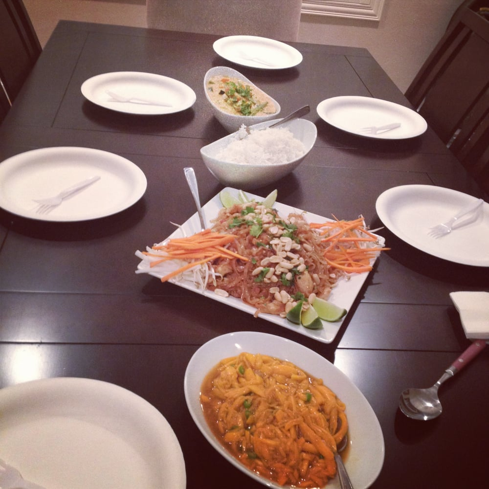 Kitchen Table With Food: Thai Food