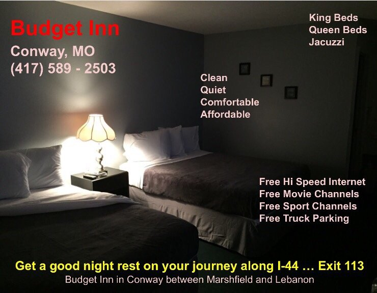 Budget Inn: 101 Martingale Dr, Conway, MO