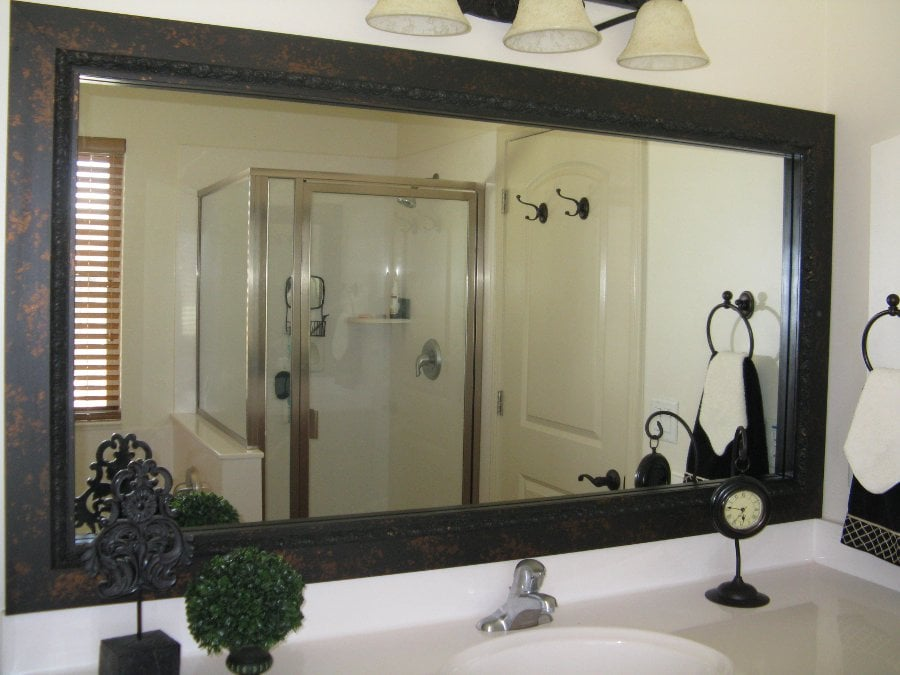 27 Beautiful Bathroom Mirrors Black Frame: frames for bathroom wall mirrors