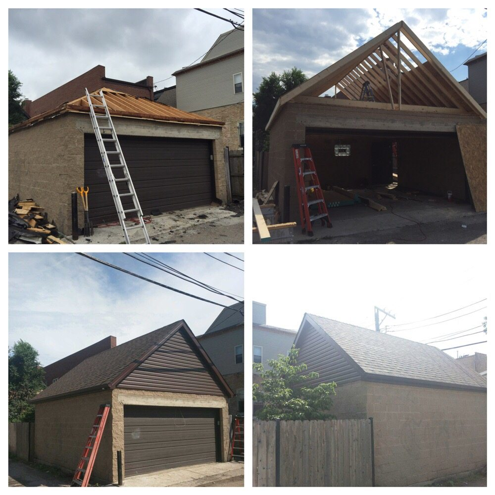 Humboldt Park Garage Hip Roof Converted To A 15ft Gable
