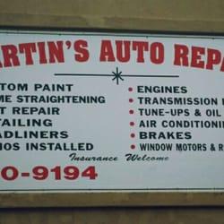 Martins Auto Repair >> Martin S Auto Repair Panel Beaters Paint Services 245