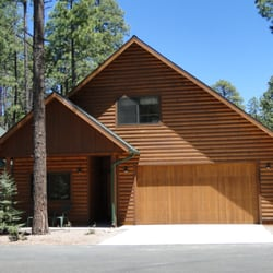 spectacular cabin plenty wentzloff rentals front completely of pinetop in cabins heart the rental parking with