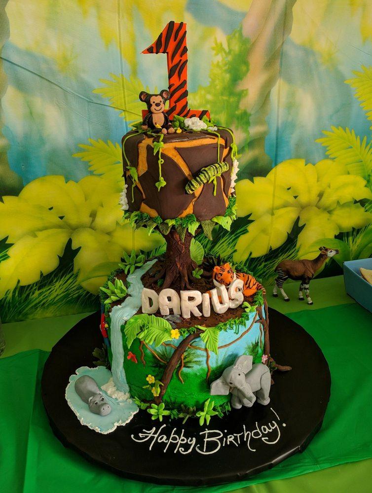 The Perfect Jungle Birthday Cake Yelp
