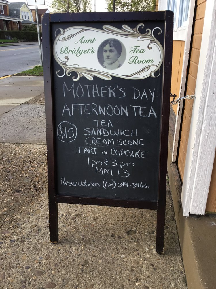Aunt Bridget's Tea Room: 1400 Duss Ave, Ambridge, PA