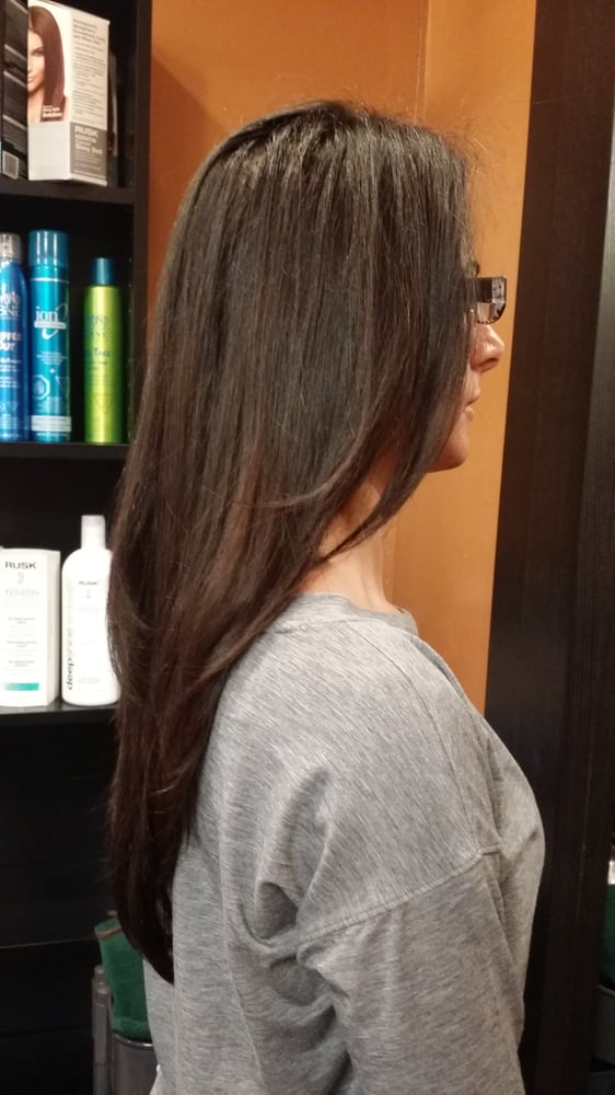 V Shape Hair Cut With Front Angle By Liza Yelp