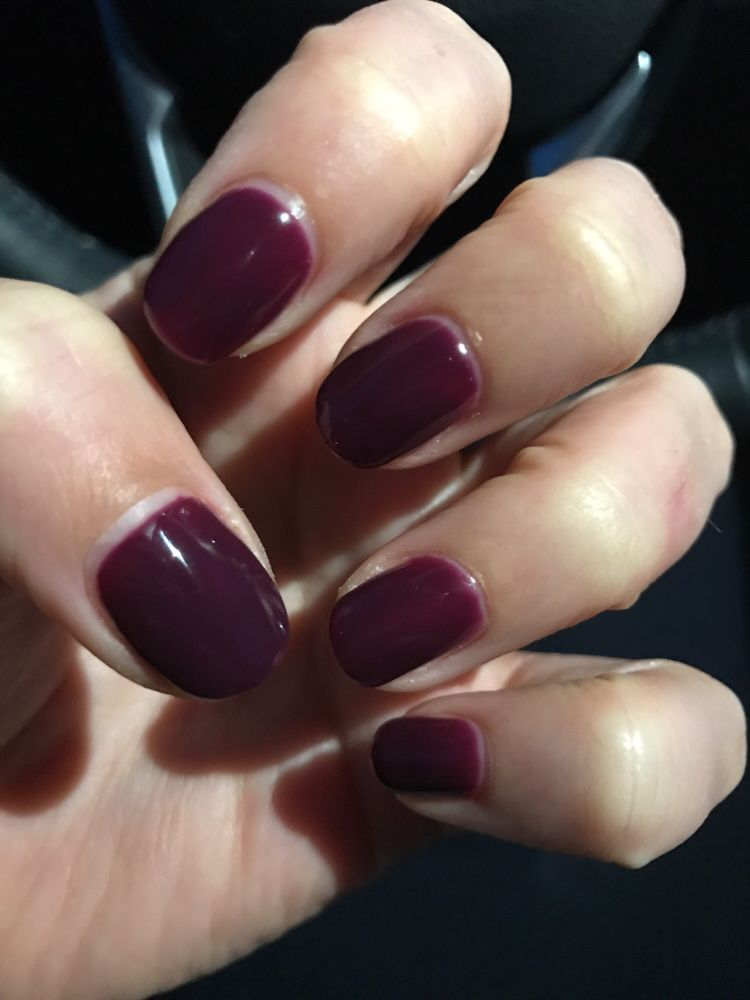 You can see the gap between the cuticle and the polish - Yelp