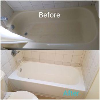 Photo Of Florida Bathtub Refinishing Miami Fl United States Before And After