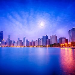 Photo Of North Avenue Beach Chicago Il United States Sunrise At