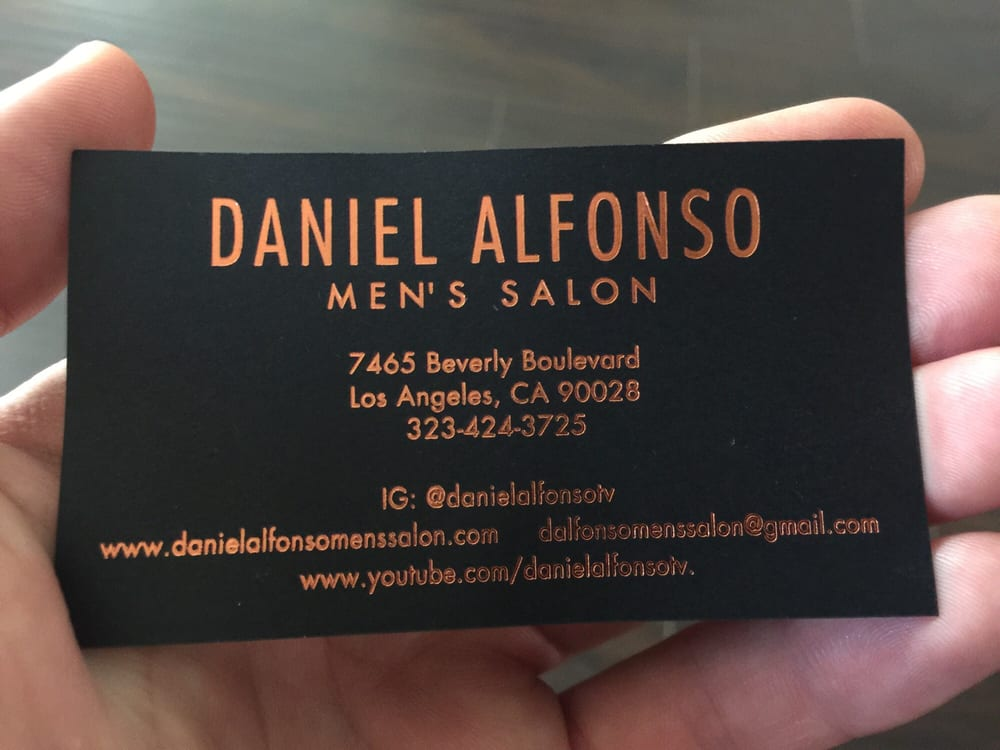 Business card i yelp photo of daniel alfonso mens salon los angeles ca united states business reheart Images