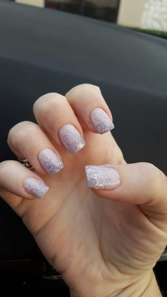 Nexgen pink and glitter ombre nails! - Yelp