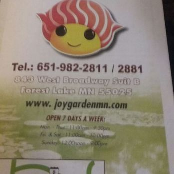 Joy Garden 30 Photos 33 Reviews Japanese 843 West Broadway Ave Forest Lake Mn United