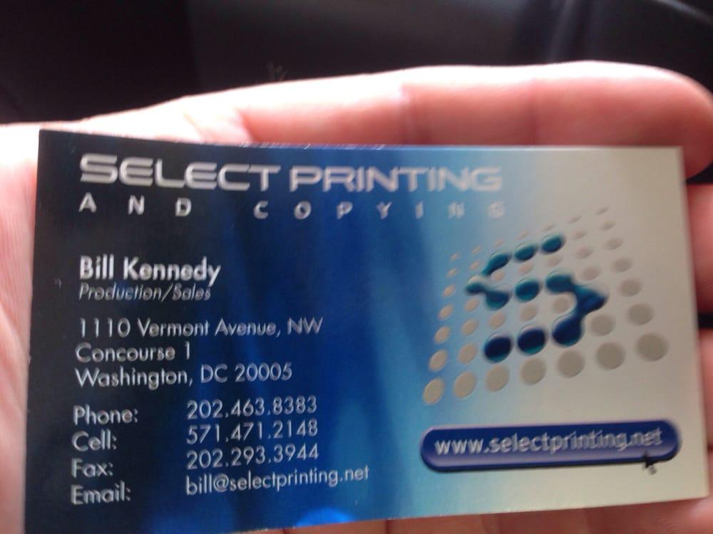 Select Printing & Copying