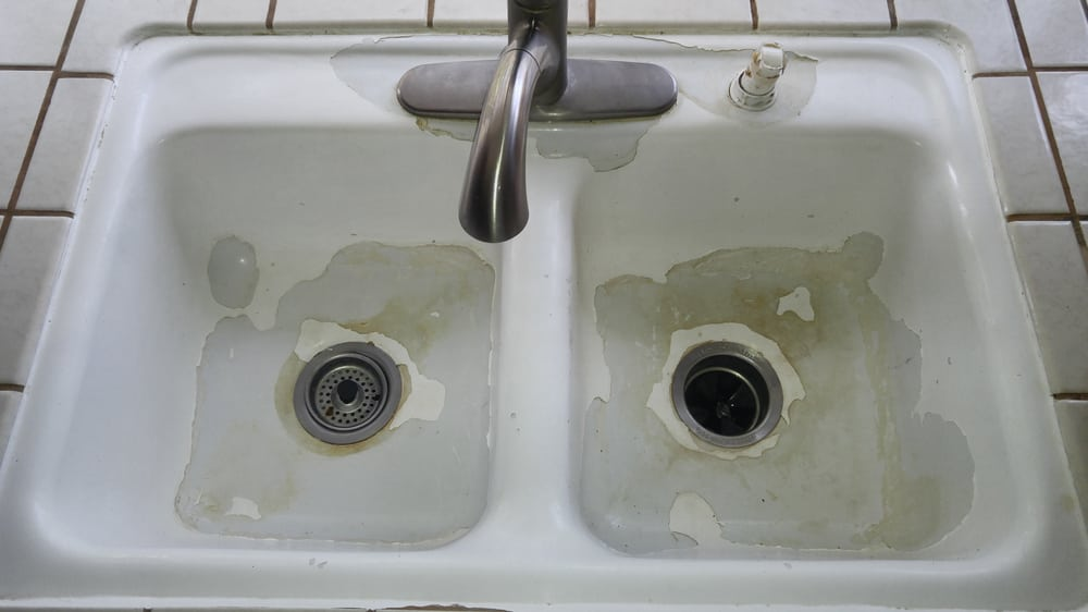 Kitchen sink before reglazing customer used a rustoleum diy yelp photo of tub quality banning ca united states kitchen sink before reglazing workwithnaturefo
