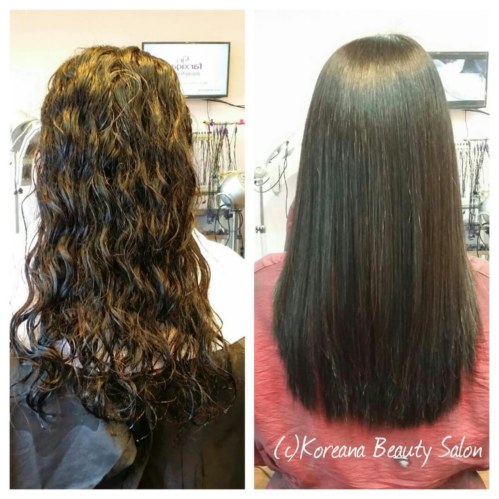 Japanese Perm Straight Hair Before After Of A Japanese