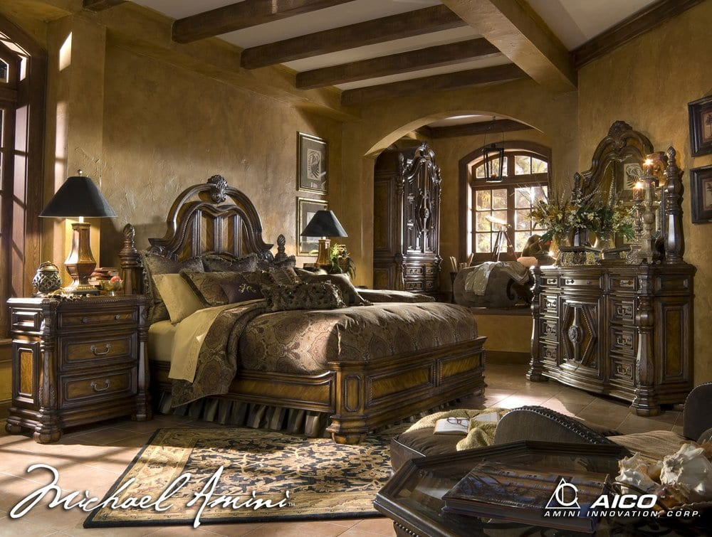 Michael Amini Bedroom Set - Yelp
