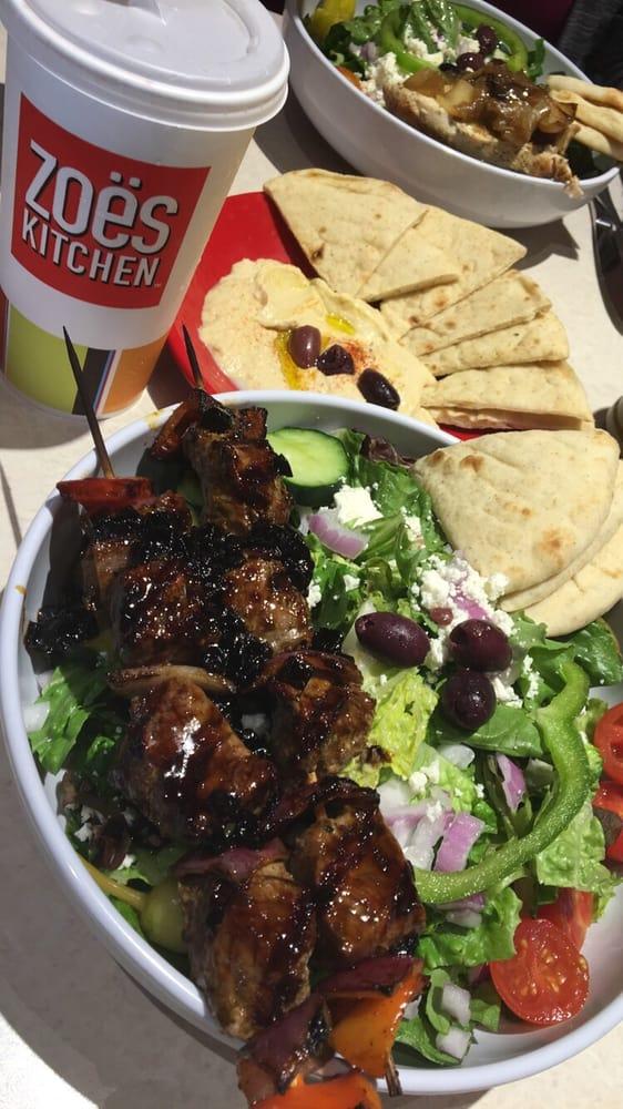 My Favorite Dish At Zoe S Greek Salad With Steak Kabobs
