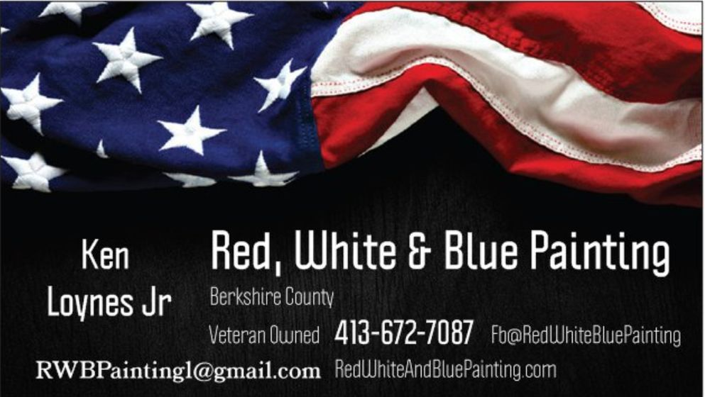 Red White and Blue Painting: Adams, MA
