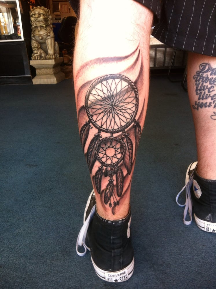 Native American Dreamcatcher With The Native Sioux Tribe Symbol