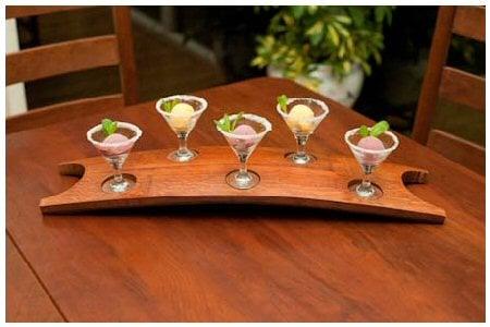 Curved Flight Tray With Mini Martini Glassessorbet Anybody Yelp