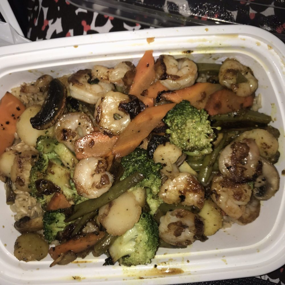 Food from Khan Mongolian Grill