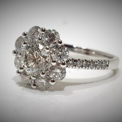 Photo of Royale Jewelers - Hanover, MD, United States. 14k White Gold Flower