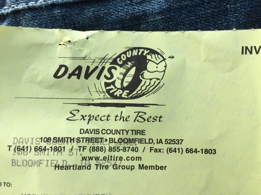 Davis County Tire: 108 Smith St, Bloomfield, IA