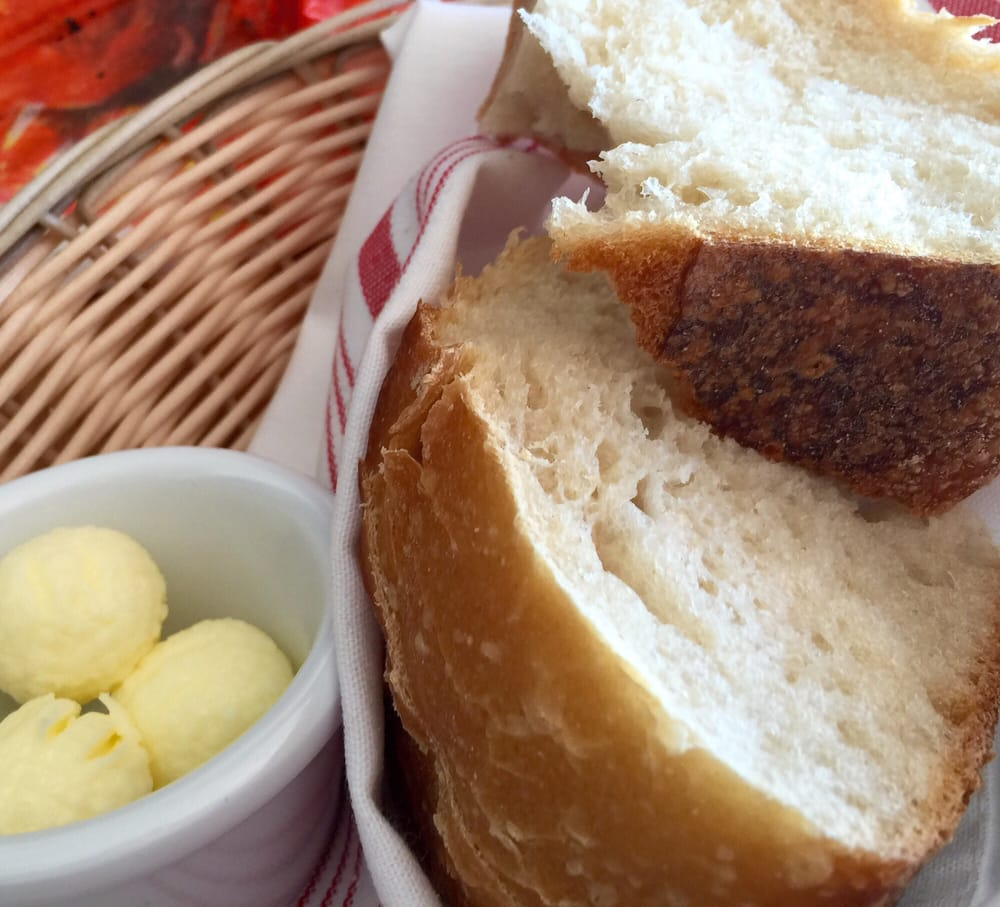 Sour dough bread w butter yelp for Flying fish bar and grill