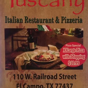 Tuscany Italian Restaurant & Pizeria - CLOSED - 14 Photos ...