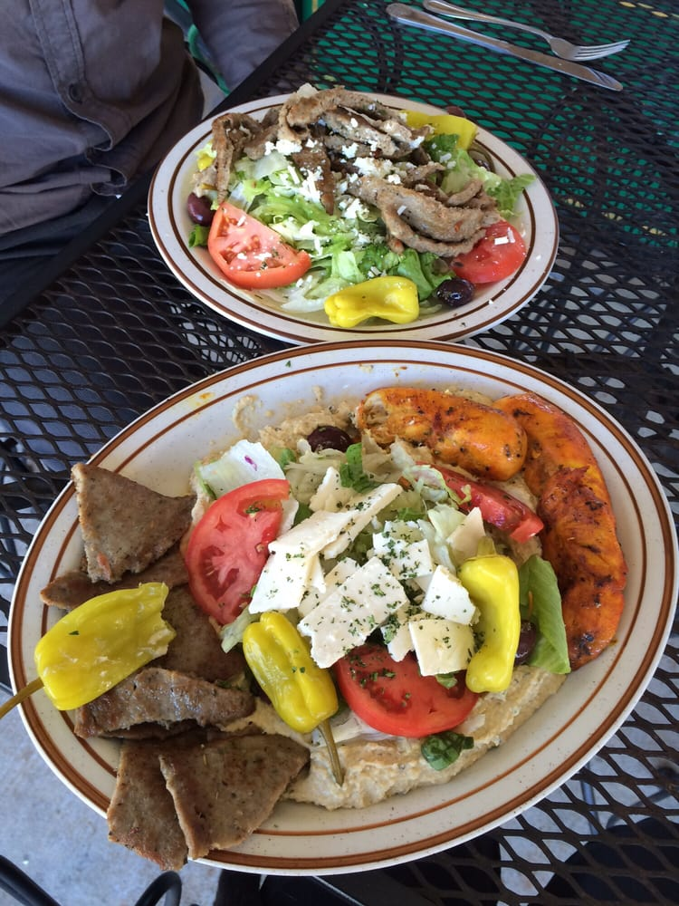 Top gyro salad bottom mediterranean platter yelp for Acropolis cuisine